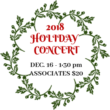 IMC 2018 Holiday Concert-Sun. Dec 16- 1:30 pm - Associates