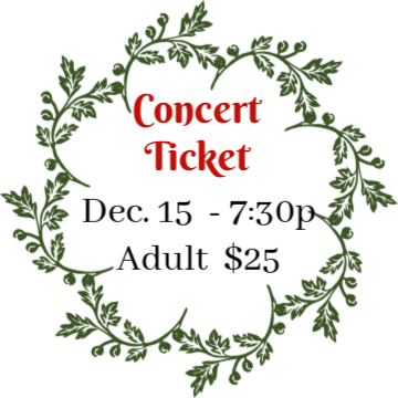 DEC 15, 2018 - 7:30 pm Holiday Concert - Adult
