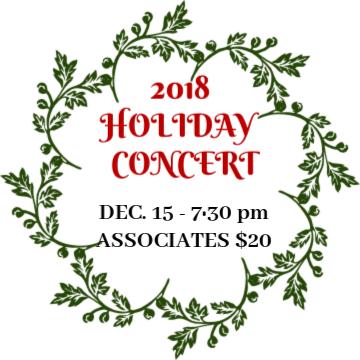 IMC 2018 Holiday Concert-Sat. Dec 15- 7:30 pm - Associates