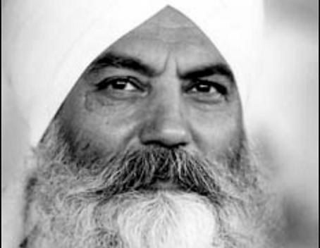 Yogi Bhajan portrait tratakum meditation kundalini yoga