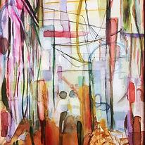 with all my love colourful abstract watercolour raj Avtar kaur