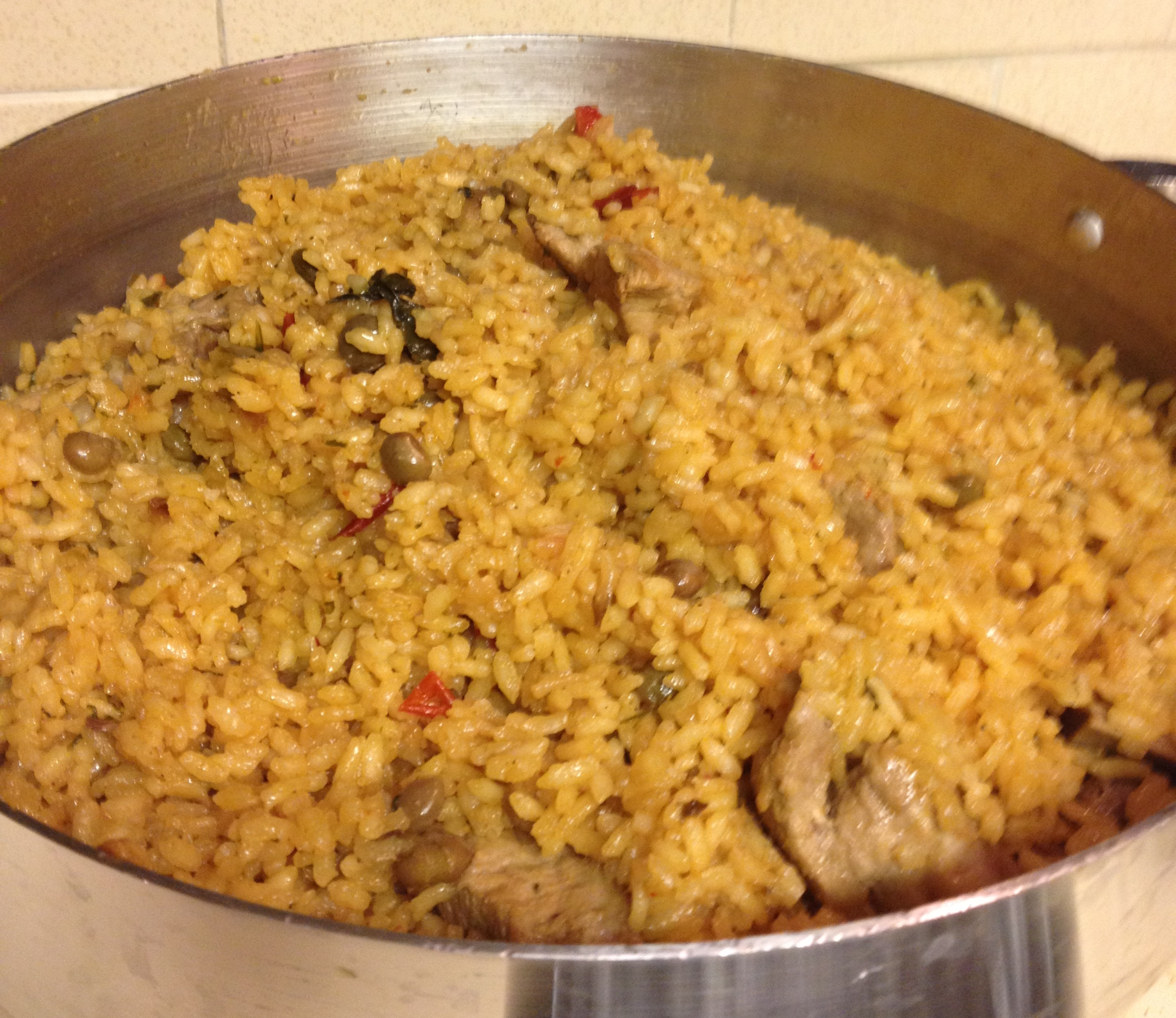 Rice, pigeon peas and ribs