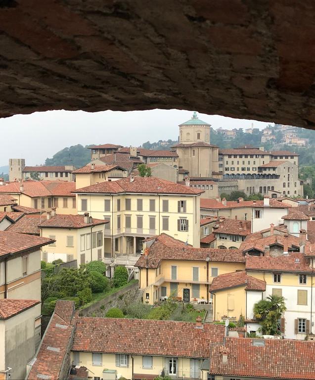 vista dal campanile di piazza vecchia