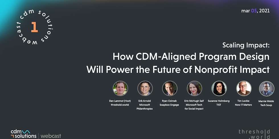 CDM Solutions Webcast - Scaling Impact
