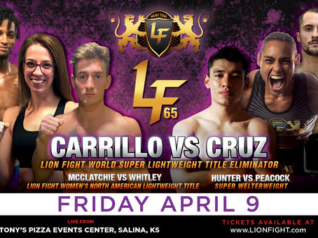 Lion Fight keeps schedule moving with next event April 9th in USA