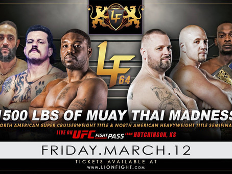 Official Weigh-In results for LION FIGHT's second event on UFC FIGHT PASS