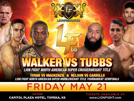 Second North American Title Tournament bolsters Lion Fight 66 lineup