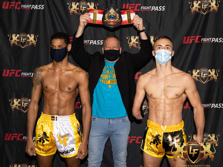 Official Weigh-In results for LION FIGHT 65 on UFC FIGHT PASS