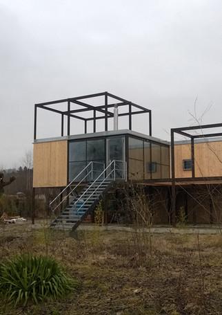 Neubau Stahl-Holz