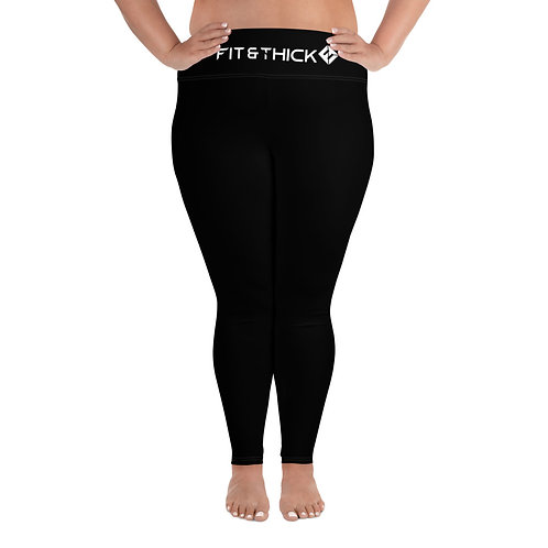 Black Energy Plus Size Leggings