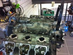 De demontage van de motor
