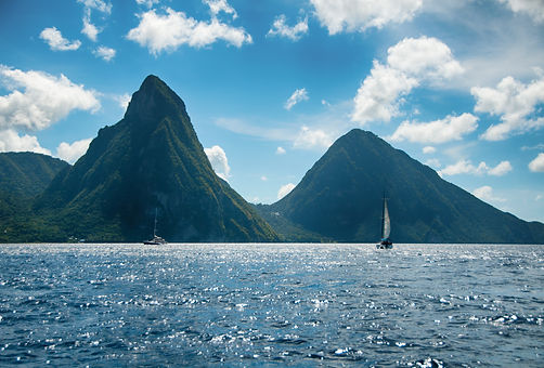 The Pitons are two mountainous volcanic plugs, volcanic spires, located in Saint Lucia