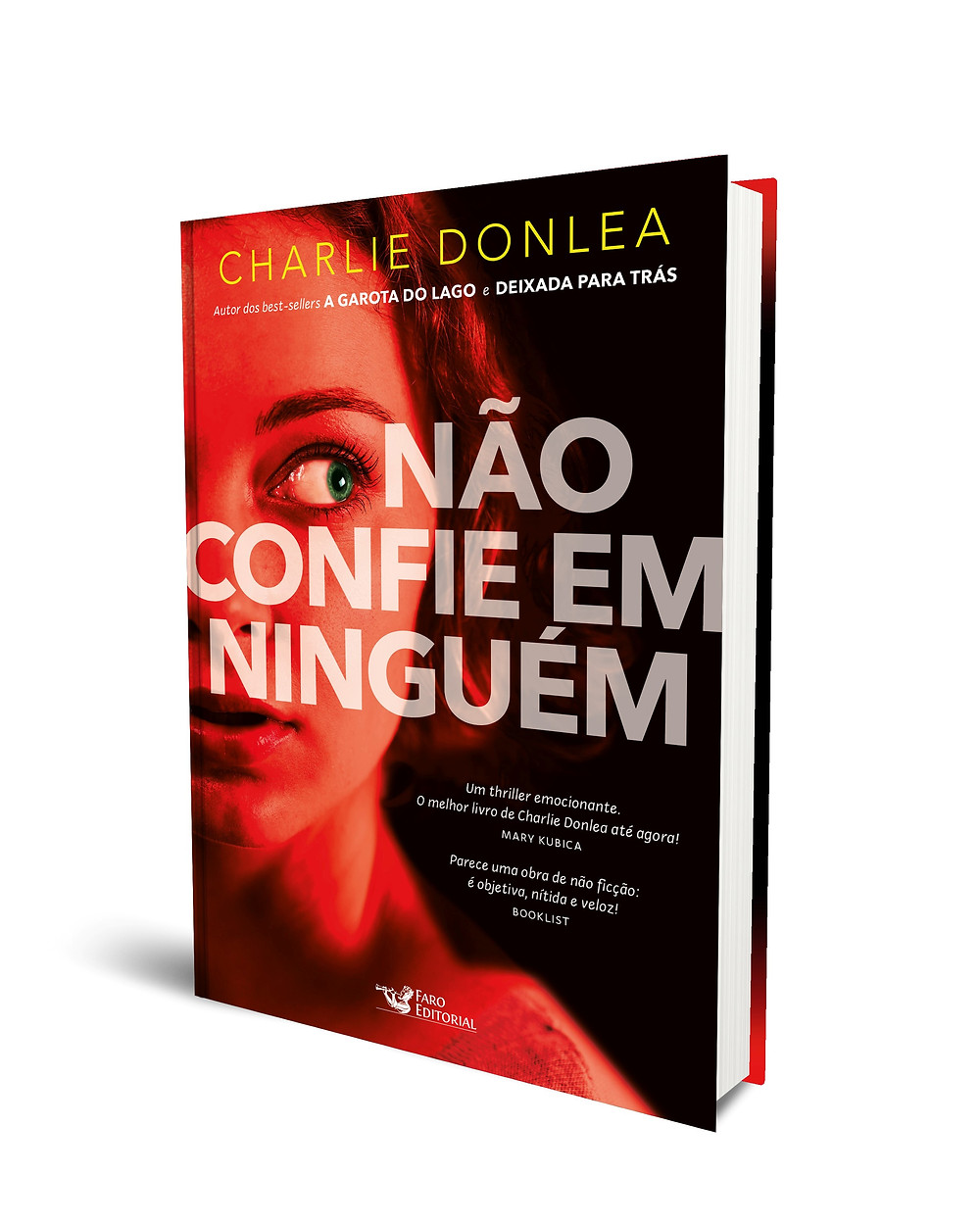 "Cover Reveal. . . New Cover, New Name. Coming to Brazil August 2018!    ""Trust No One"" by Charlie Donlea."