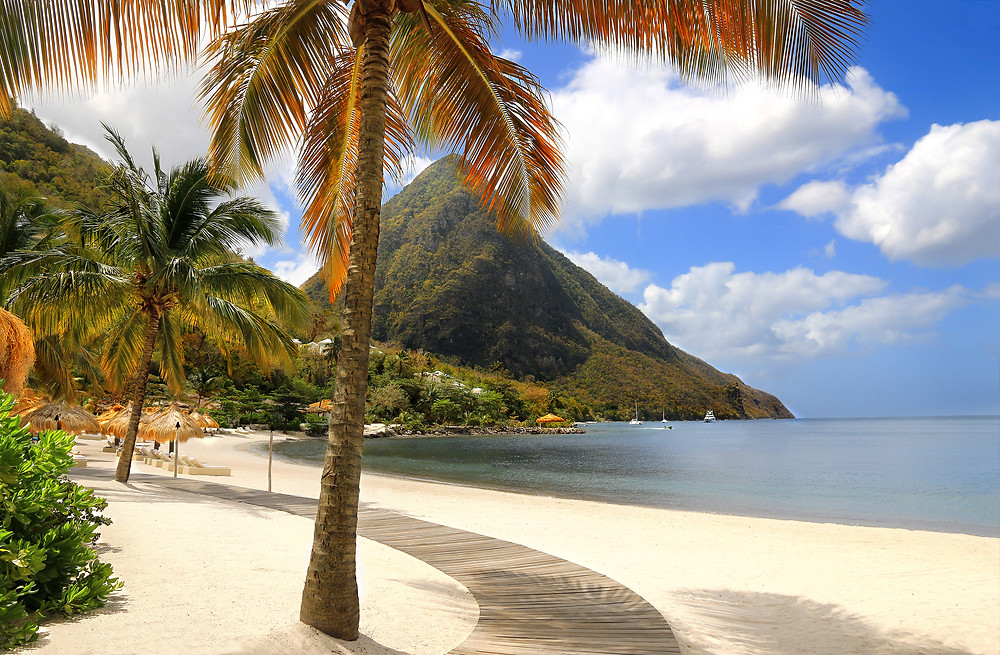 Sugar Beach Resort St. Lucia Caribbean l Setting for Don't Believe It