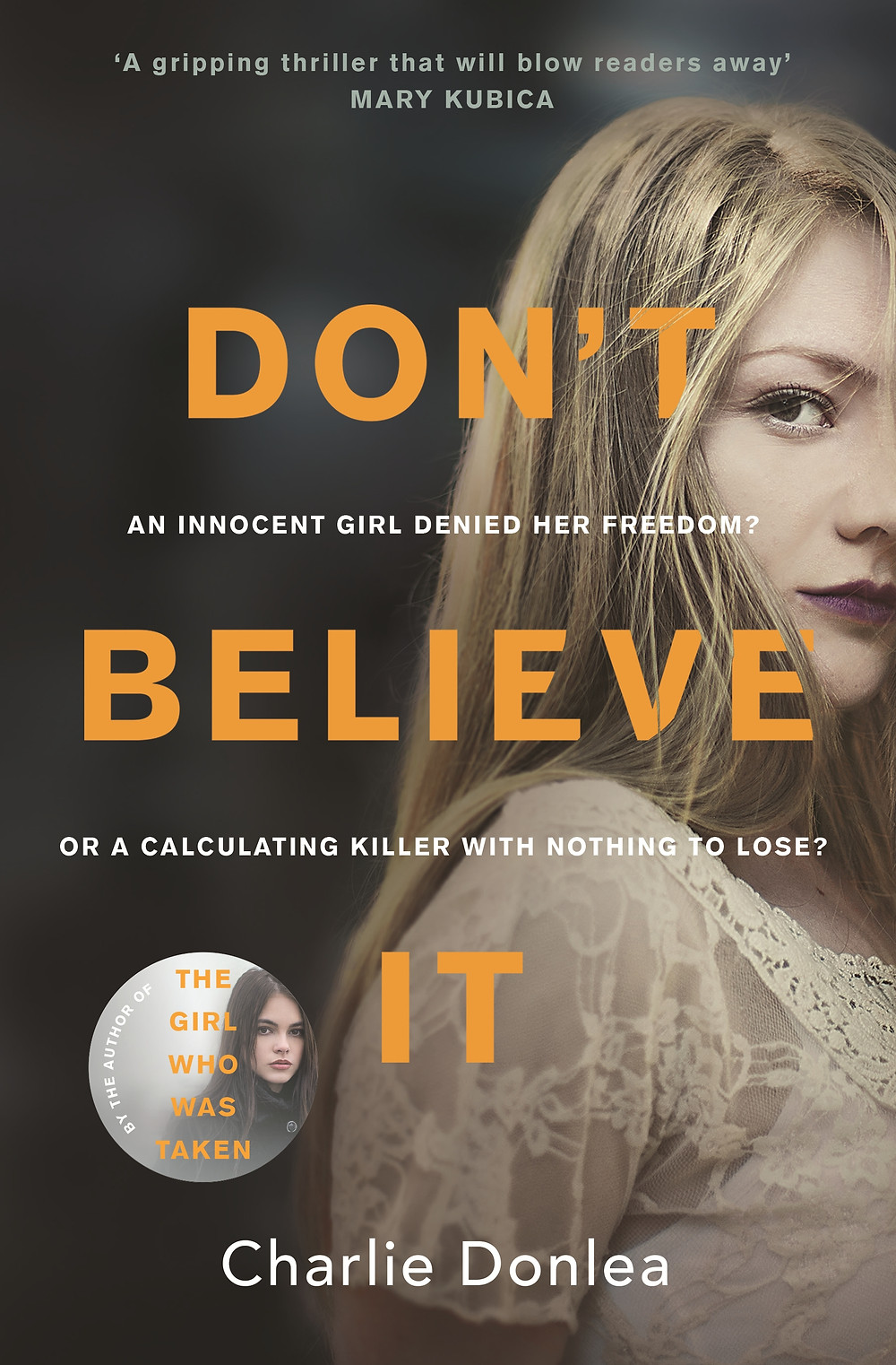 Don't Believe It by Charlie Donlea featured on ibooks for May