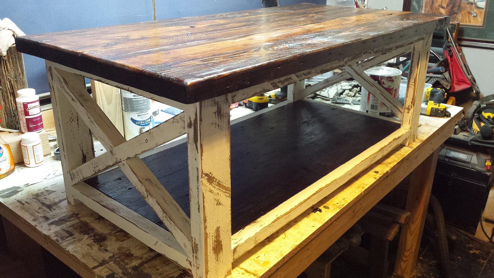 d m woodworks custom barnwood coffee table