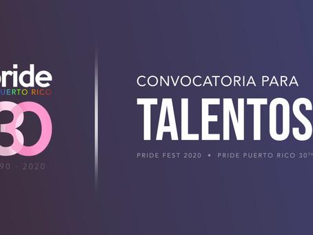 Convocatoria para Talentos • PRIDE Puerto Rico 2020