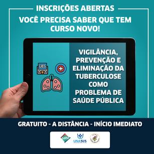 Curso gratuito: Vigilância, prevenção e eliminação da tuberculose