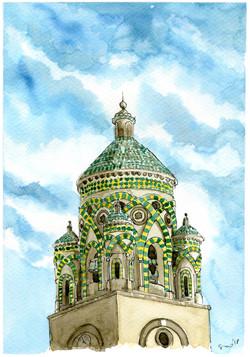 Amalfi, particolare del campanile