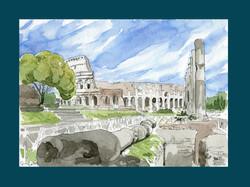 Colosseo visto dai Fori Romani