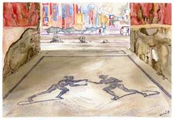 Pompei Palestra: i due lottatori