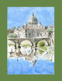 Tevere e Basilica San Pietro