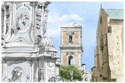 Piazza Gesu Nuovo con Santa Chiara