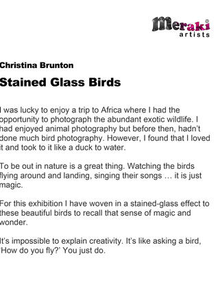 Christina's Artist Statement