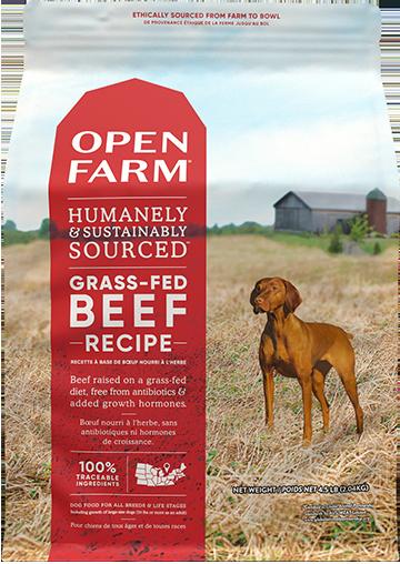 Open Farm Dog Kibble Grass-Fed Beef