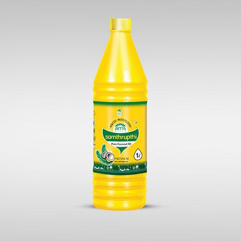 Samthrupthi Pure Coconut Oil Yellow 1 Ltr