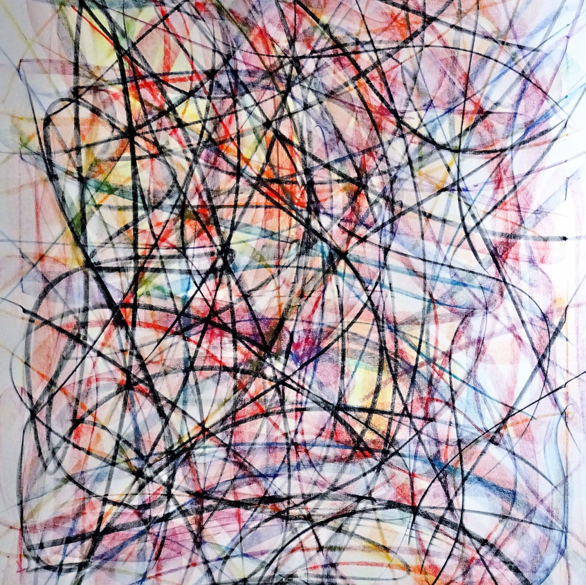 Abstract Lines_120x150cm_Pastel auf Leinwand_2018