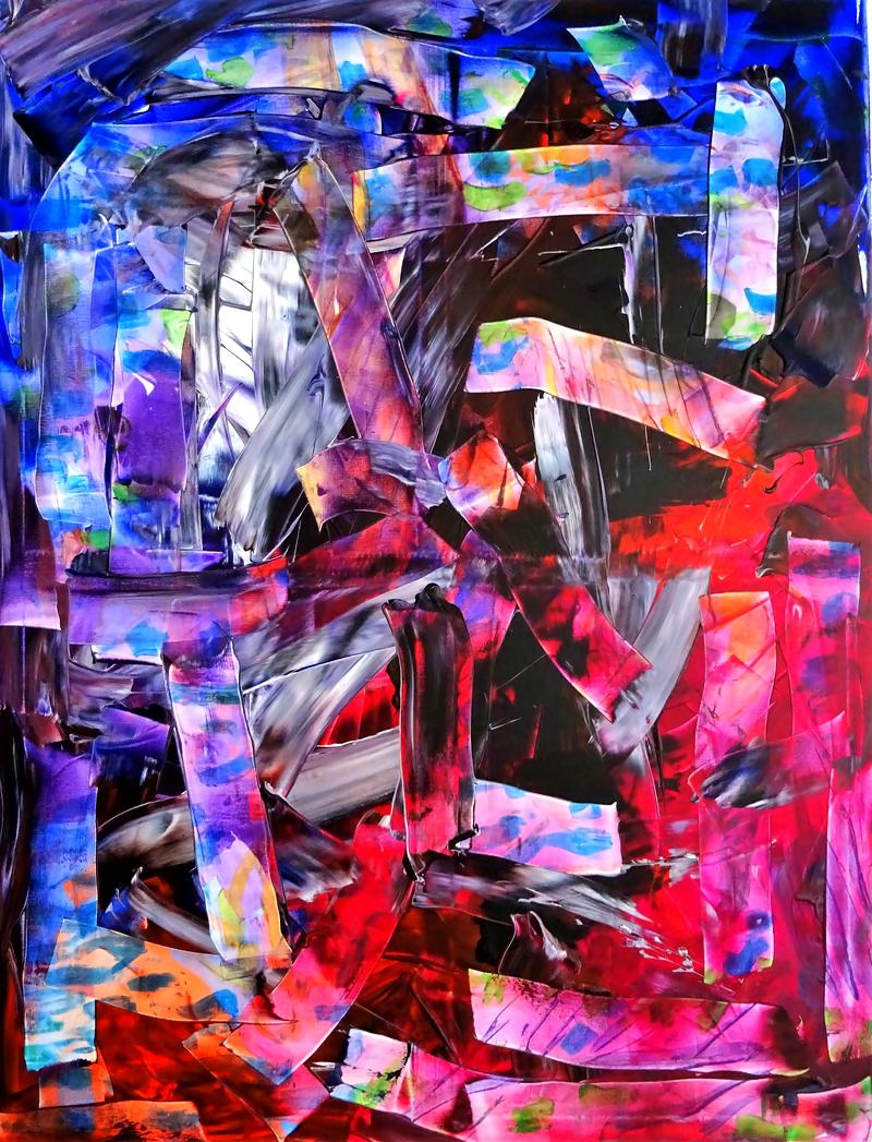 Abstract, Acrylic on canvas,  88x116cm 2