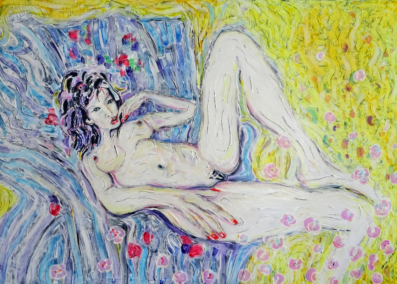 Akt, Oil Acrylic on canvas, 100x140cm 20