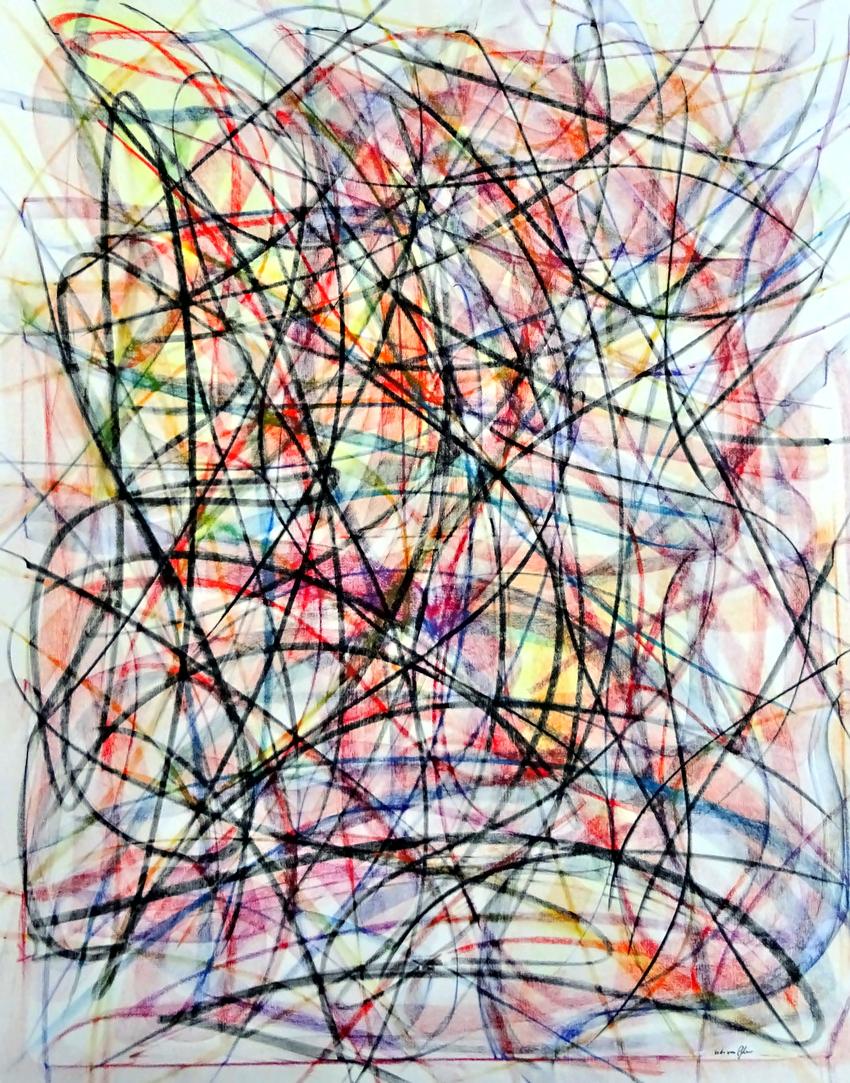 Line Color, Oil on canvas, 120 x 160 cm,