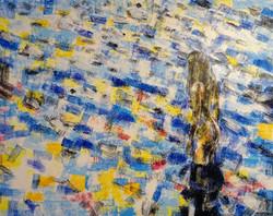 Woman in water_120x150 cm_Acryl auf Lein
