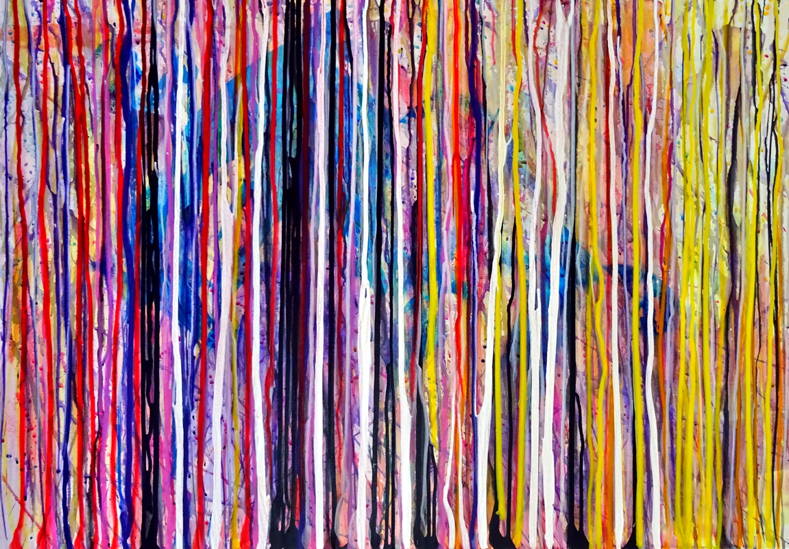 Abstract 220 Acryl auf Leinwand 100x70cm