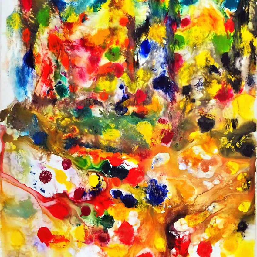 Abstract play of colors_120x160 cm_Acryl auf Leinwand_ 2006
