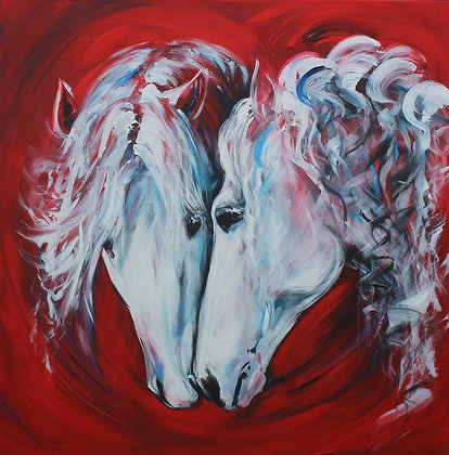 """'Amore' One off original painting 36"""" x 36"""" SOLD"""