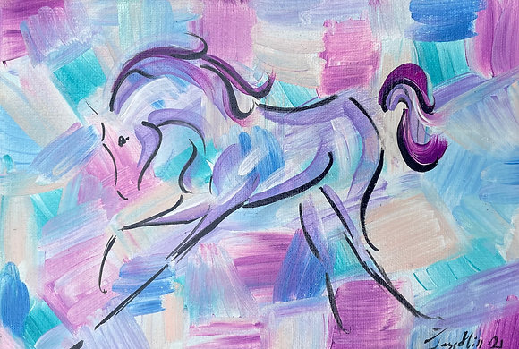 """One off original painting on canvas 12"""" x 8"""""""