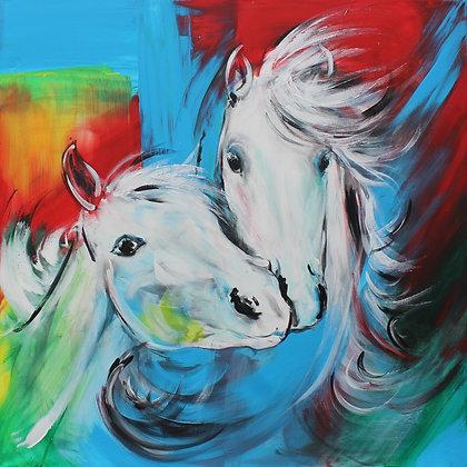 "'Radiant Joy' One off original painting 36"" x 36"""