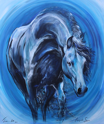 """SOLD Perfect Storm One off original painting 47"""" x 39"""""""
