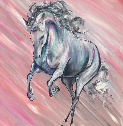 "'Flourishing Charm' One off original painting on canvas 30"" x 30"""