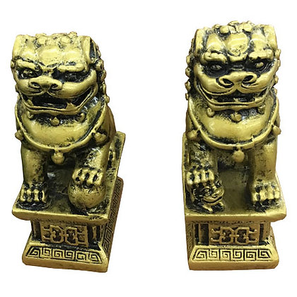 Small Lion Statue pair