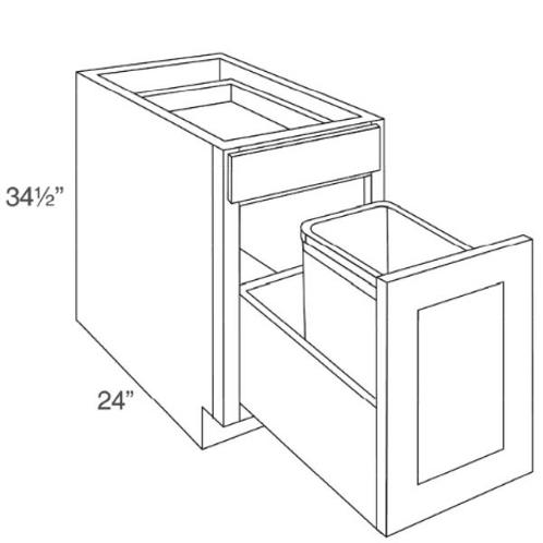 """SE BWB15 15"""" Waste Basket Cabinet"""