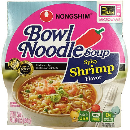 Spicy Shrimp Bowl Noodle Soup