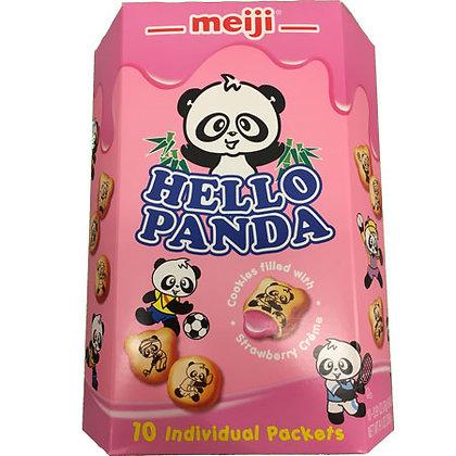 Meiji Hello Panda Strawberry Biscuit
