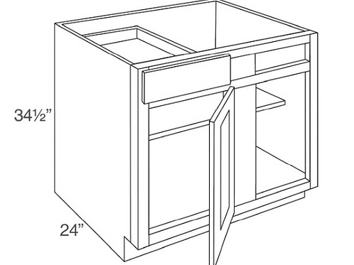 """SE BBC36-39 36"""" Blind Base Cabinet"""