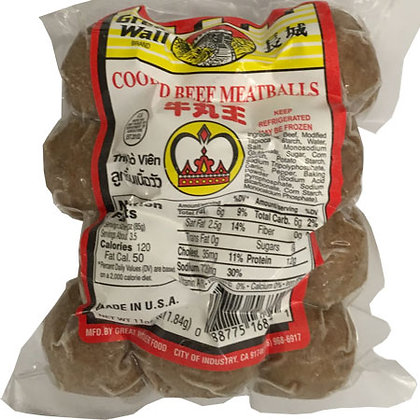 Cooked Beef Meatballs