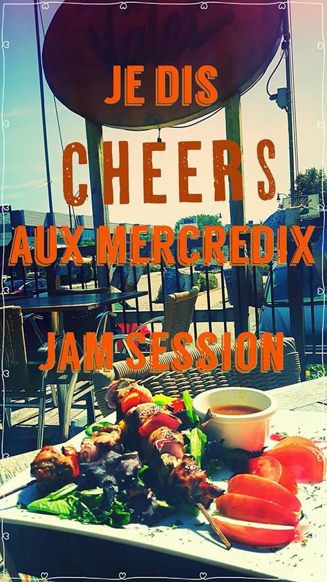 Mercredi Jam session assiette à 10$