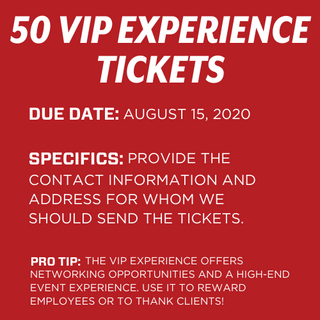 50 VIP Experience Tickets